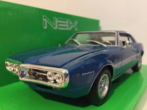 Pontiac Firebird 1967 - blå 1 24 skala Welly 22502B