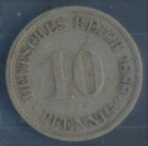 German-Empire-Jagerno-4-1888-G-very-fine-Copper-Nickel-1888-10-Pfennig-7849099