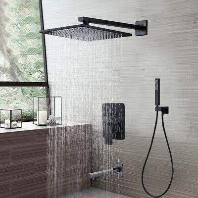 """Oil Rubbed Bronze 8/"""" Rain Shower Head Shower Faucet Bath Set Valve Mixer Tap"""