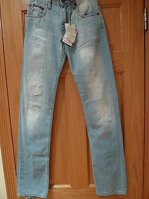 LOVE MOSCHINO SKINNY LOW-RISE MEN'S JEANS SIZE 27