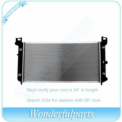 "Radiator for 2009 GMC Sierra 2500 HD 6.0L-34/"" BETWEEN TANKS-W//ENGINE OIL COOLER"