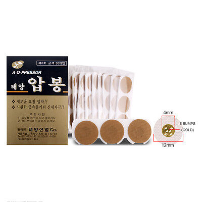 Acupuncture Nice Taeyang 30p Disposable Acupressure Glod Pain Relief Aluminum Acupuncture 6 Bump Ture 100% Guarantee Health & Beauty