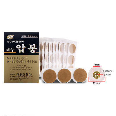Nice Taeyang 30p Disposable Acupressure Glod Pain Relief Aluminum Acupuncture 6 Bump Ture 100% Guarantee Acupuncture
