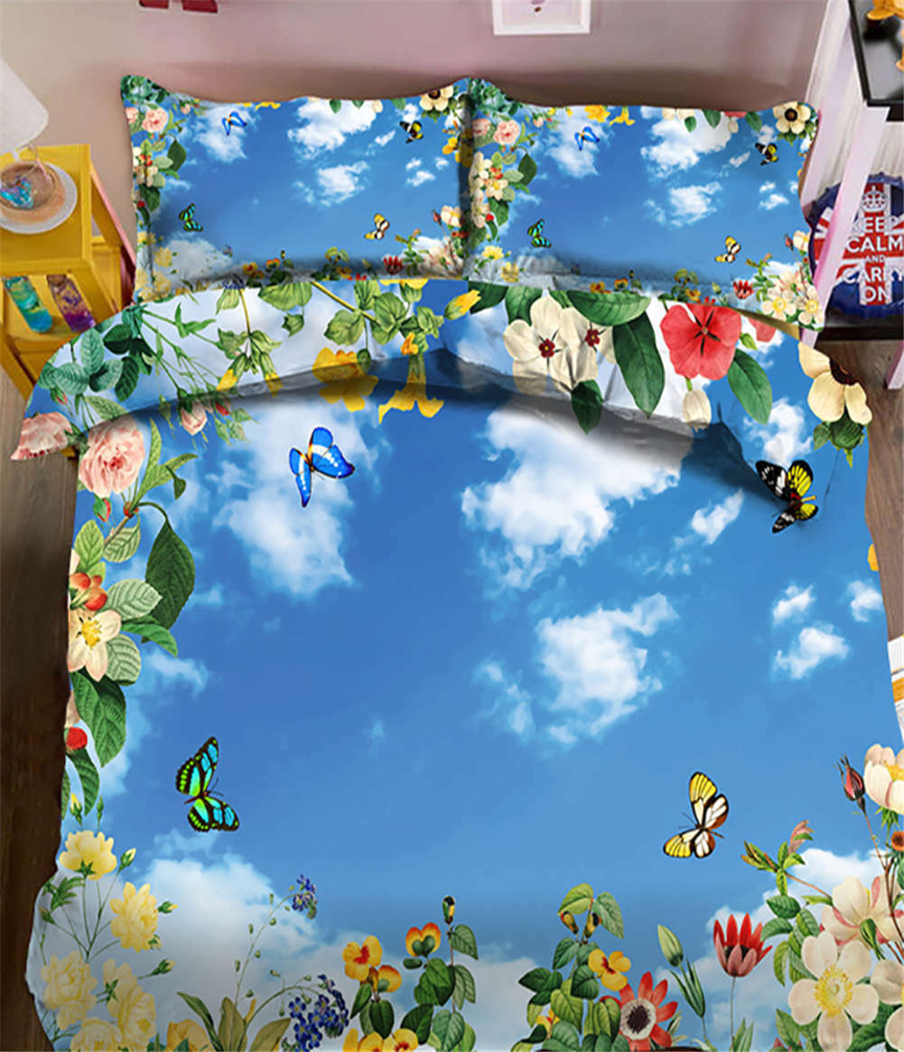 Flying A Kite 3D Printing Duvet Quilt Doona Covers Pillow Case Bedding Sets