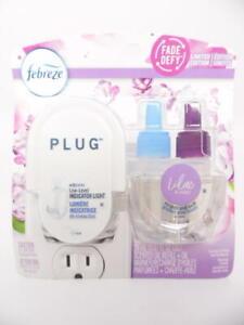Febreze Fade Defy Plug Air Freshener Odor Eliminator Starter Kit Lilac & Violet