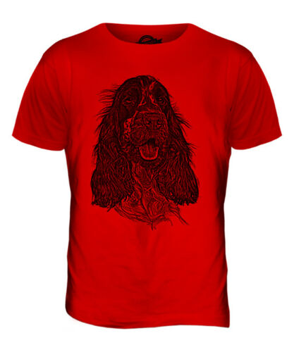 ENGLISH COCKER SPANIEL SKETCH MENS PRINTED T-SHIRT TOP GREAT GIFT FOR DOG LOVER