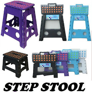 Plastic Step Stool Folding Foldable Multi Purpose 39 Amp And