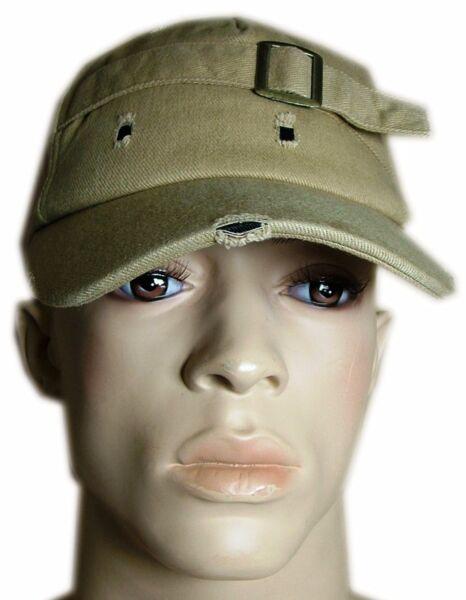 * Nuovo * Color Sabbia Effetto Invecchiato Look Cap Hat