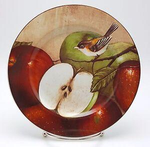 Sakura-Oneida-Apple-Orchard-Bird-Salad-Dessert-Plate-8-25-inch-Stoneware-New