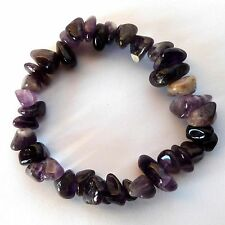 **BEAUTIFUL AMETHYST LARGE CHIP CRYSTAL BRACELET - HEALING / REIKI**