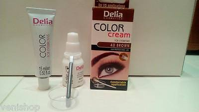 HENNA CREAM Eyebrow Eyelashes Professional Colour Tint Kit Set Dye 4 colours
