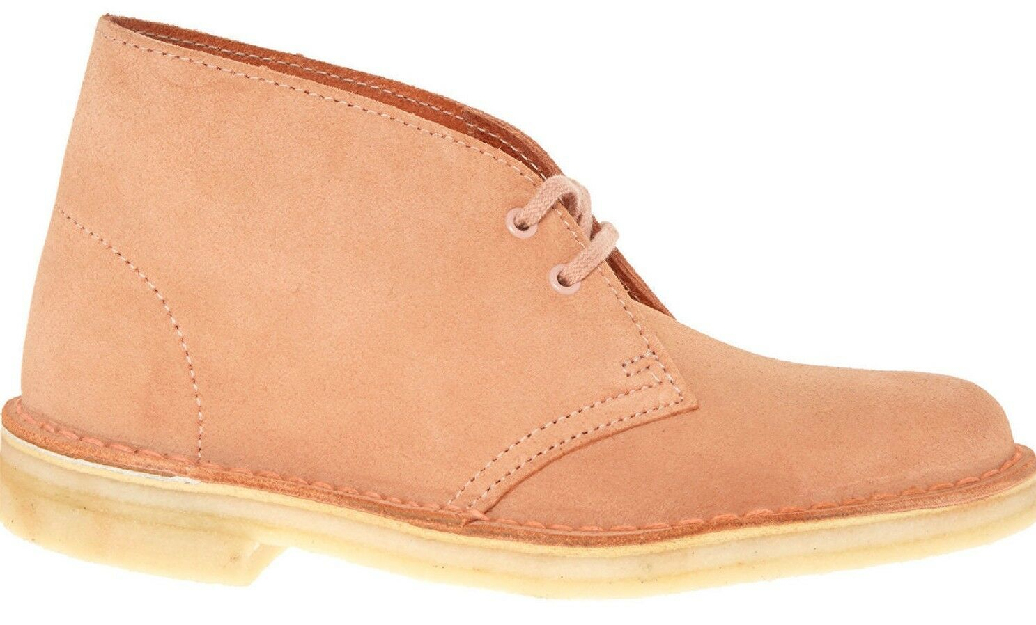CLARKS Dessert Boot Women's Dusty Pink Suede Leather Shoes rrp  UK 3 /EU 35.5
