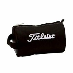 TITLEIST-PCH9-Golf-Ball-Pouch-Bag-Carry-Case-Black-W20xD12xH12cm-37718-JAPAN