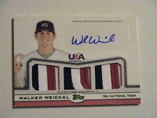 2011 Topps 18U USA National Team Walker Weickel San Diego Padres Relic Auto 1/1