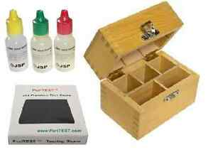 Just Tester Jewelry Stone Box Store 10k 14k 18k Gold Silver Jsp Acid Test Kit Tools Other Coin & Money Supplies
