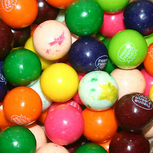 "850 Assorted 10 flvr GOURMET Dubble Bubble nom. 1"" GUMBALLS vending candy double"