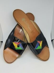 2fda780512a8 Image is loading New-jack-rogers-black-patent-leather-sandals-style-