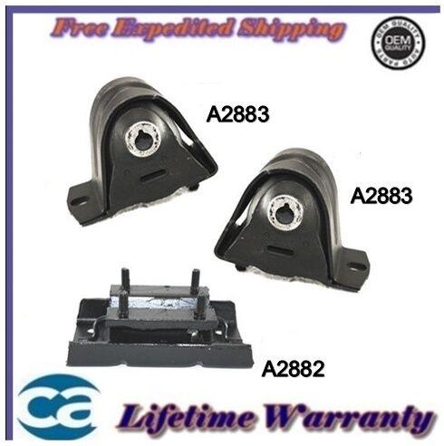 Engine Mount Fits 1997-2006 Jeep Wrangler 2.4// 4.0L Set 3PCS *