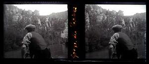 Francia-Gorges-Tarn-Foto-Stereo-Negativo-Placca-Da-Lente-VR12a1