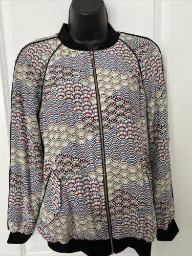 Equipment Femme Silk Bomber Jacket, Size XS