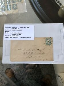 Confederate Cover w/#12 10 Cent Stamp