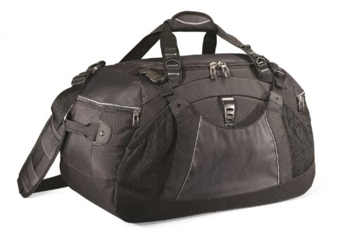 """Vertex Rugged New Durable 22/"""" Sports Black Duffel Bag For Travel Or The Gym"""