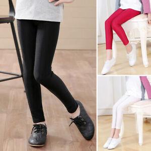 Kids Girls Trousers Casual Slim Jeggings Leggings Pencil Skinny Stretch Pants