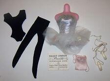 Vintage Barbie BALLERINA #989 Leotard & Ballet Tutu Toe Shoes Slippers Bag 1961