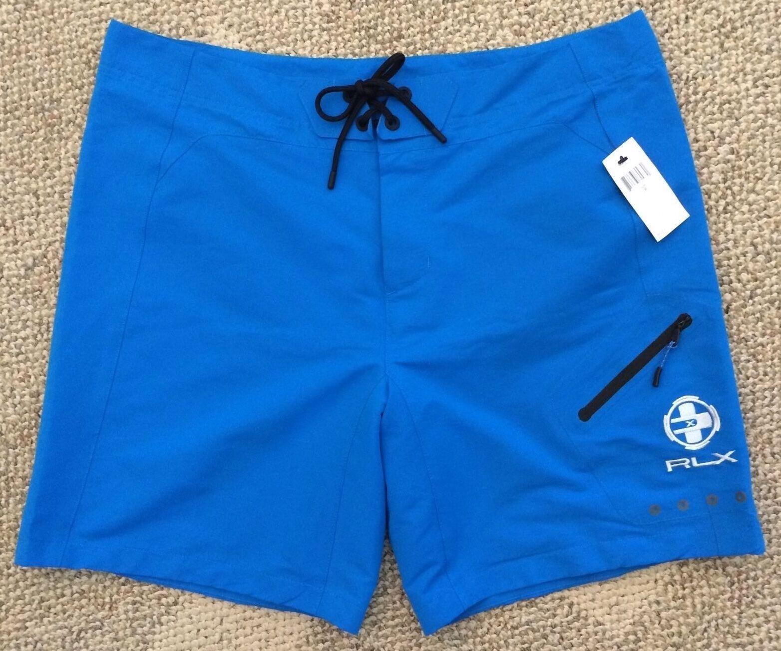 RLX Ralph Lauren Mens Size 38 bluee Board Shorts Swim Trunks Unlined