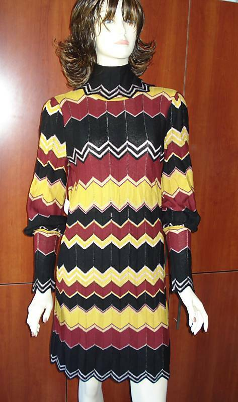 100% authentic  M Missoni Zigzag Dress top size 42 6