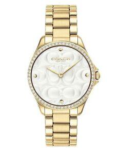 Coach-Modern-Sport-31MM-Women-039-s-Gold-Tone-Stainless-Steel-Watch-14503071-295