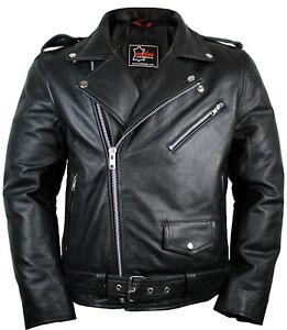 Lederjacke Chopper Punk Biker Preisvergleich günstige