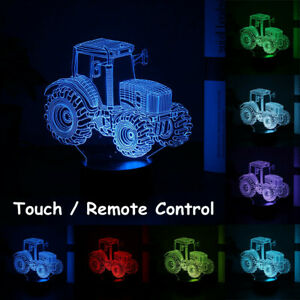 3D-Traktor-Auto-Nachtlicht-Tischlampe-Illusion-Optische-Lampe-LED-7