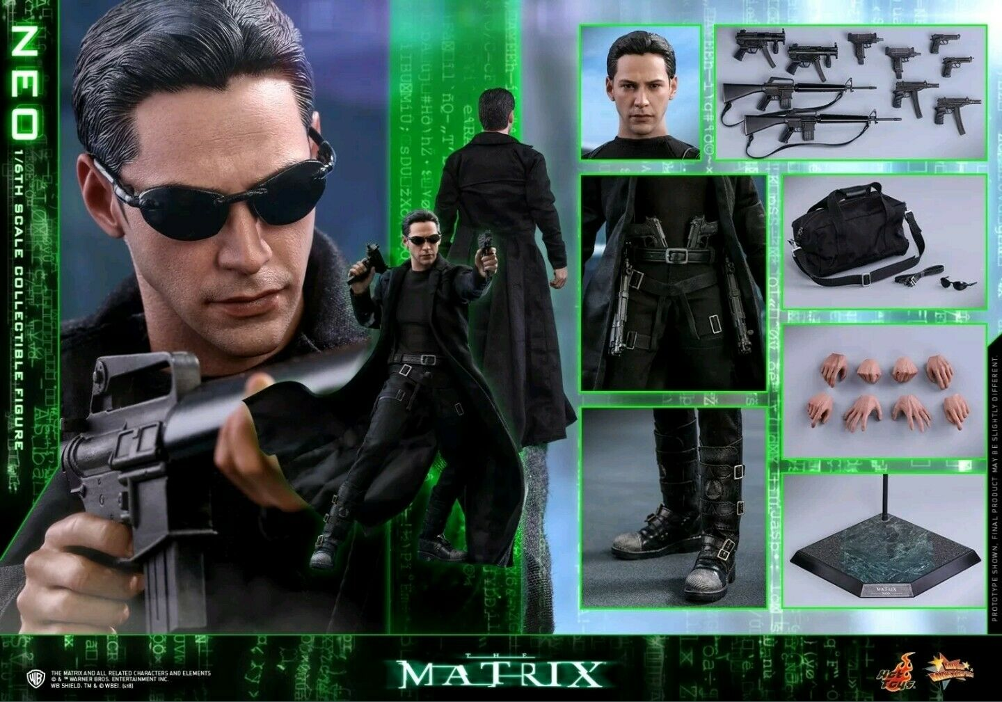 Hot Toys Matrix neo 1 6th Scale Collectibles brand new ready to ship from UK.