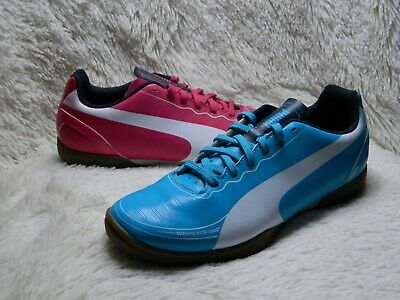 su Apto Pionero  Puma Evospeed 5.2 Indoor Soccer Shoe Size 4 Pink Blue Athletic FREE S&H |  eBay