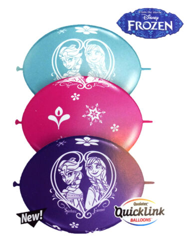 """10 x 11/"""" Assorted Frozen Birthday Party Quick Link Banner Balloons Decoration"""