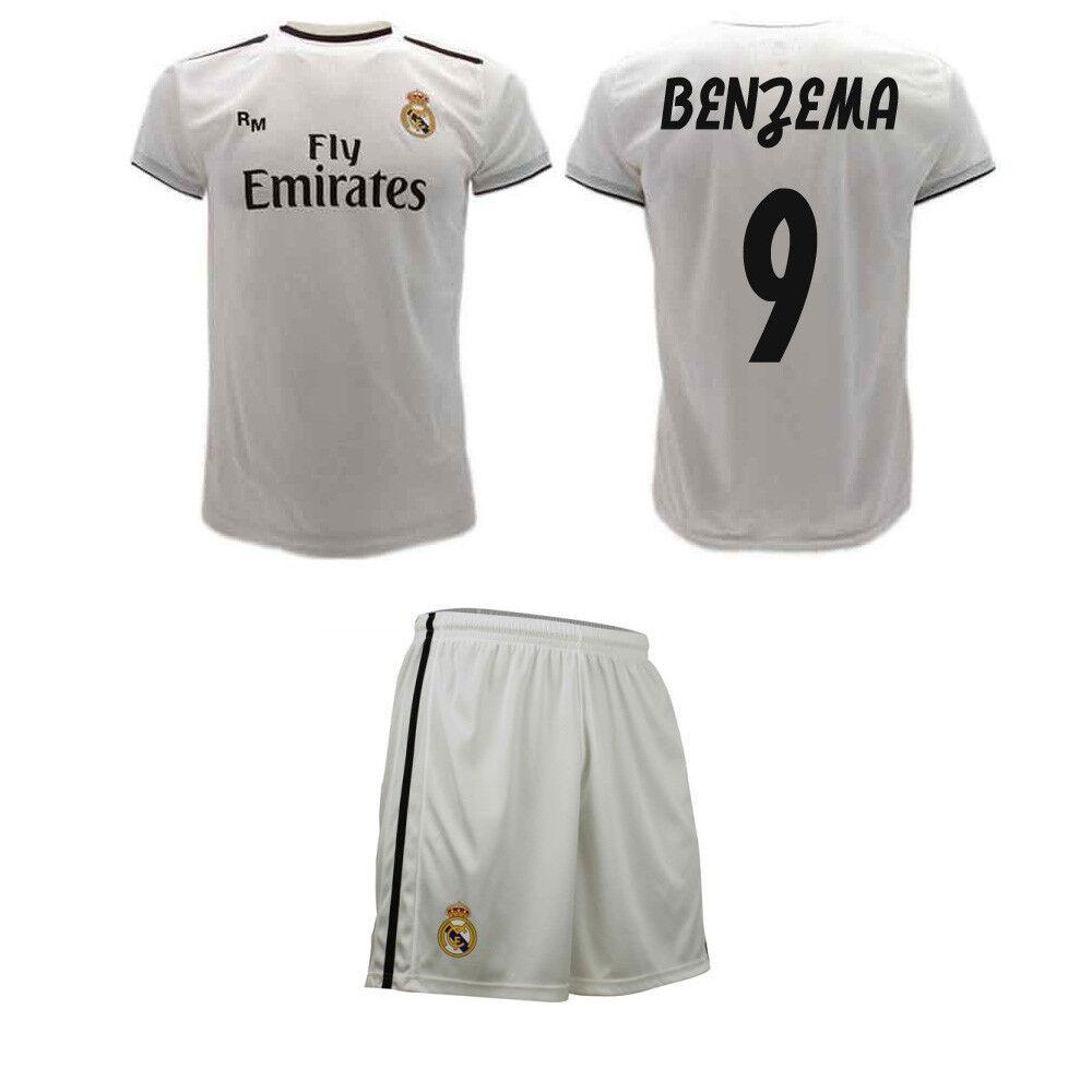Completo Benzema Ufficiale Real Madrid 2019 Maglia e Pantaloncini Karim 9