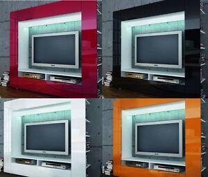 TV STANDTV WALL UNITMEDIA WALL LIVING ROOM FURNITURE OWEN Top - Tv wall units ebay