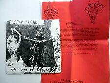 SPITPOPE 45 Sing a Song of Satan WASTING AWAY / MISERY Punk PIC SLEVE c2120