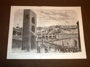 Firenze-nel-1875-Centenario-di-Michelangelo-Processione-sulla-rampa-San-Nicolo