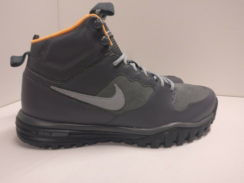Nike Dual Fusion Hills Hills Hills Mid in Pelle Grigio Scuro Nero 695784-001 Trail Boot 309158