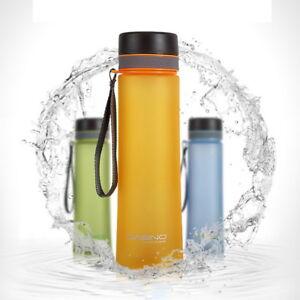580ml Trinkflasche Flasche Trinkbecher Sportflasche Becher mit Strohhalm FL Neu