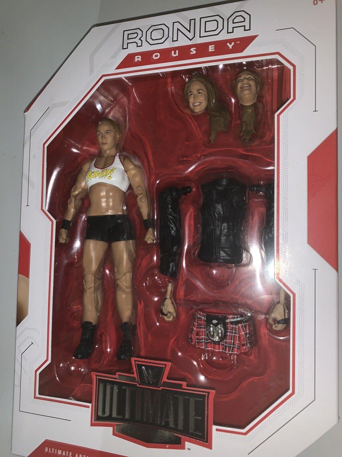 Mattels WWE Ultimate Edition Bret Hart  Ultimate Warrior Triple H Rhonda 6 inch