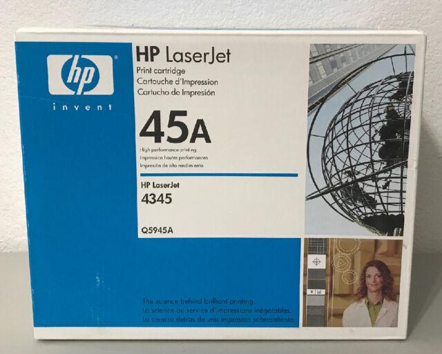 GENUINE HP 45A BLACK TONER PRINT CARTRIDGE Q5945A - FACTORY SEALED BOX