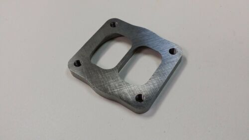 """T4 Divided to 3.5 inch Inlet Transition Turbo Flange 1//2/"""" CNC  S200 S300 GT30"""