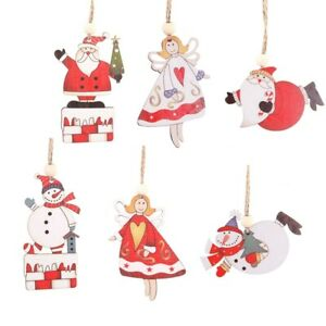 Merry-Christmas-Hanging-Decor-Xmas-Tree-Pendant-Wood-Crafts-Snowman-Ornaments