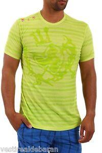 T-shirt-Maglietta-Uomo-Maniche-Corte-525-GRUPPO-EINSTEIN-Giallo-Verde-B541-Tg-L