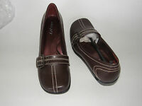 Bp Bumper Ladies Shoes Chocolate Brown S-7 All Man Made Leather