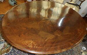 Tavolo Ovale Antico : 800 antico tavolo ovale inglese in radica di noce intarsiato sedie