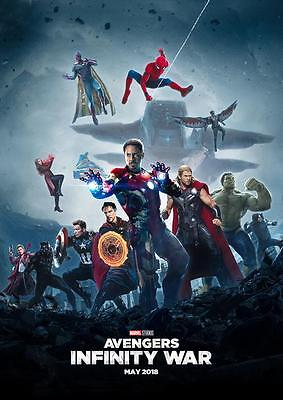 The Avengers Infinity War Poster Iron Man Captain America Hulk Spiderman A4 A3 Ebay